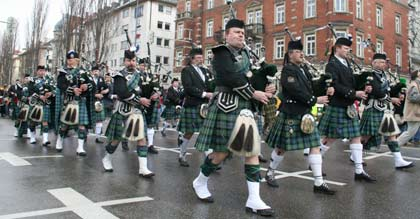 St. Patricks Day Bilder Dudelsackspieler Photos Munich